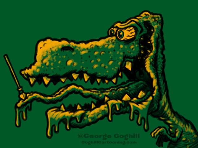 Monster Head Cartoon Dinosaur Sketch Coghill