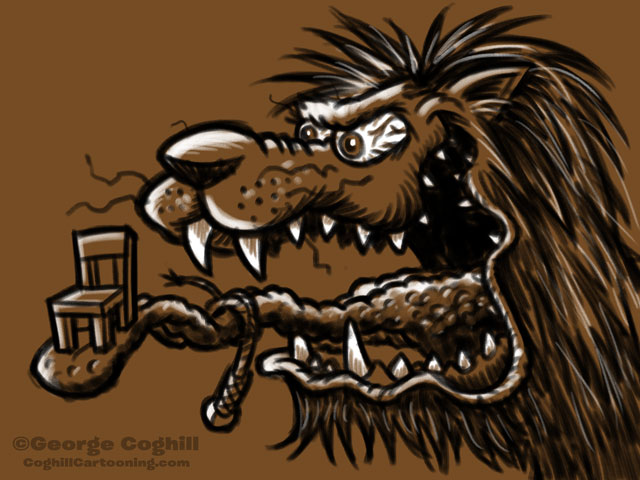 Monster Head Cartoon Lion Sketch Coghill