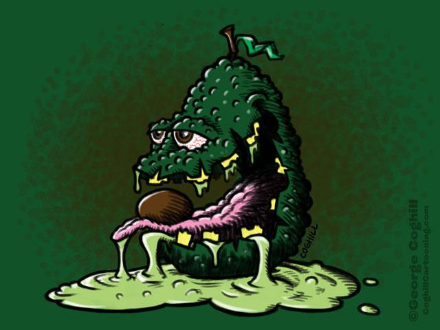 Awful Avocado Cartoon Character Sketch Coghill