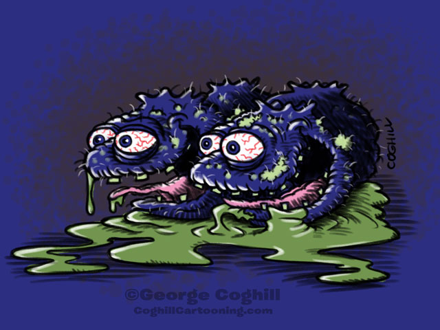 Bludgeoned Blueberries Cartoon Character Sketch Coghill