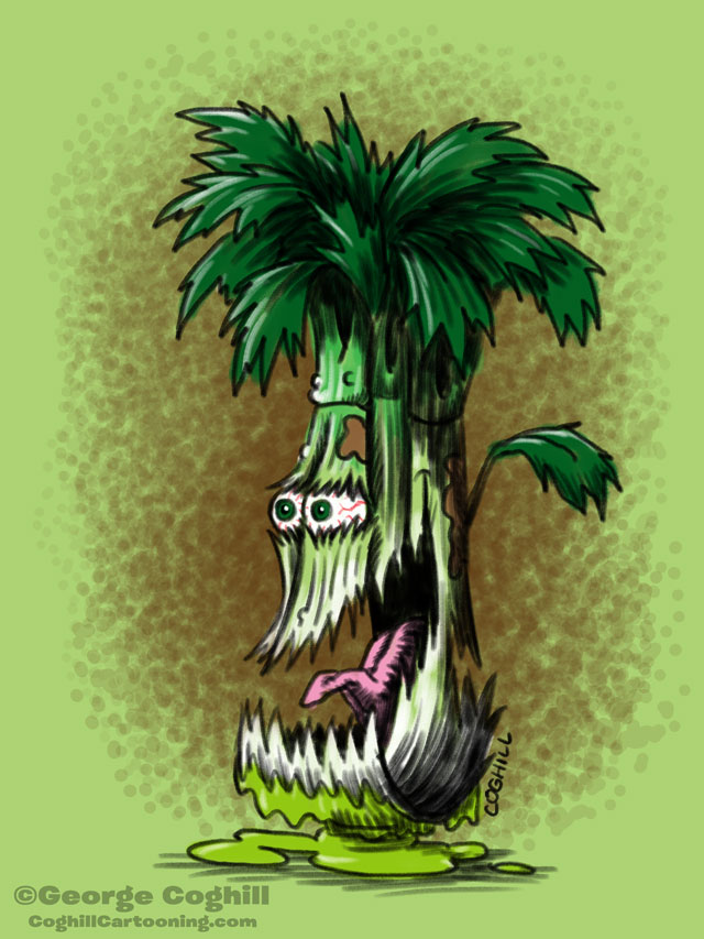 Contused Celery Cartoon Character Sketch Coghill