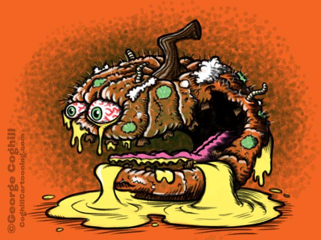 Putrid Pumpkin Cartoon Character Sketch Coghill