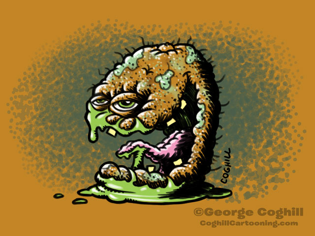 Kiboshed Kiwi Food Fruit Lowbrow Cartoon Character Sketch