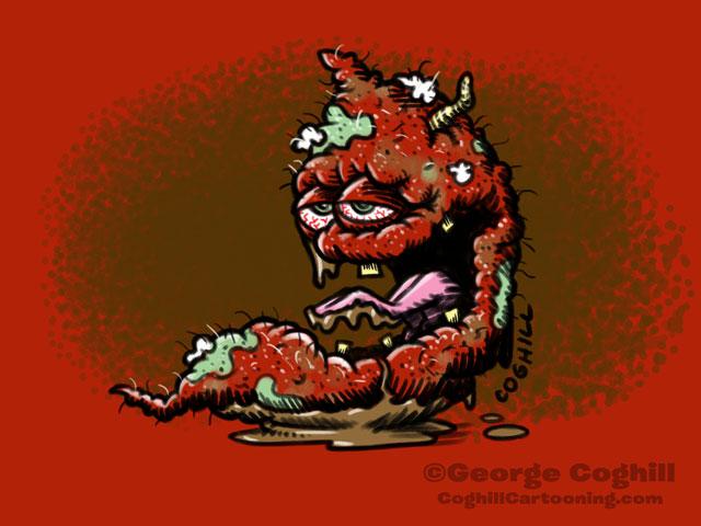 Sorry Sweet Potato Food Vegetable Lowbrow Cartoon Character Sketch