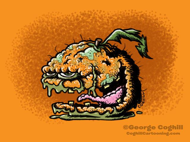 Tainted Tangerine Food Fruit Lowbrow Cartoon Character Sketch