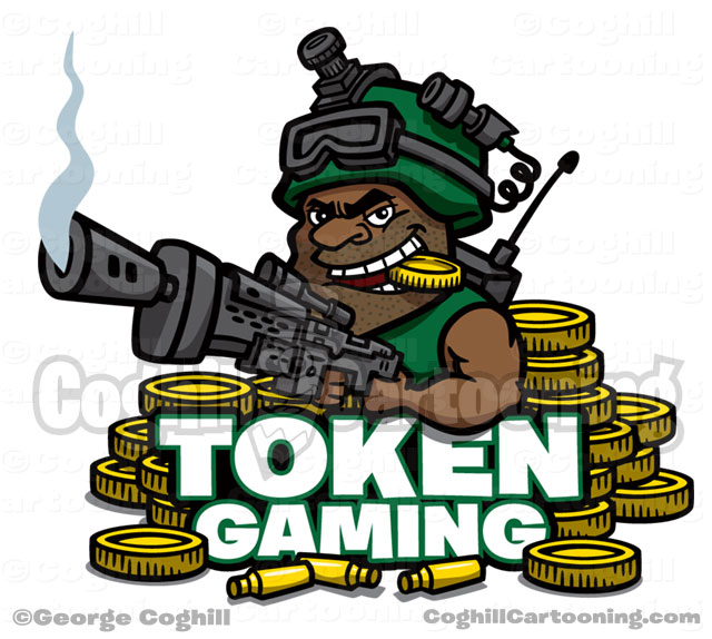 Token Gaming Military Soldier Cartoon Logo Coghill
