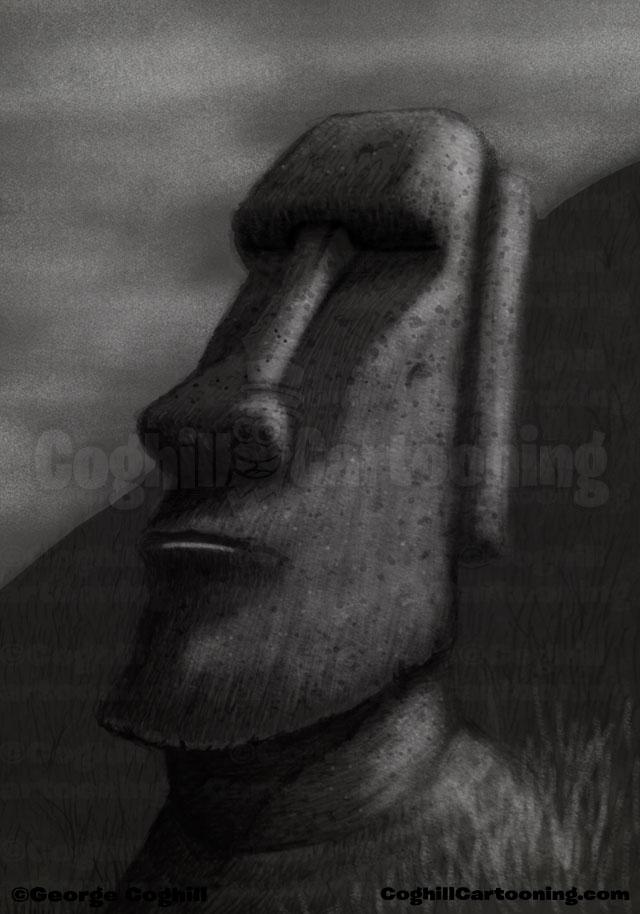 Easter Island Moai Drawing Coghill