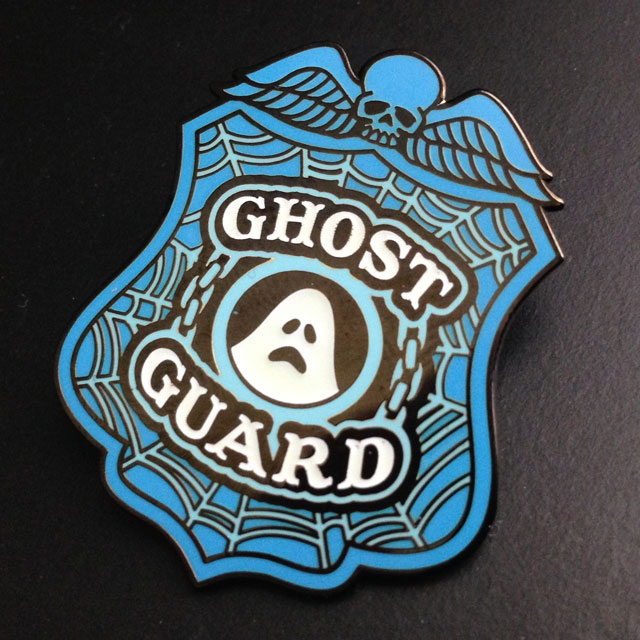 Ghost Guard lapel pin glow-in-the-dark