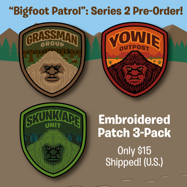 Grassman Skunk Ape Yowie Patches