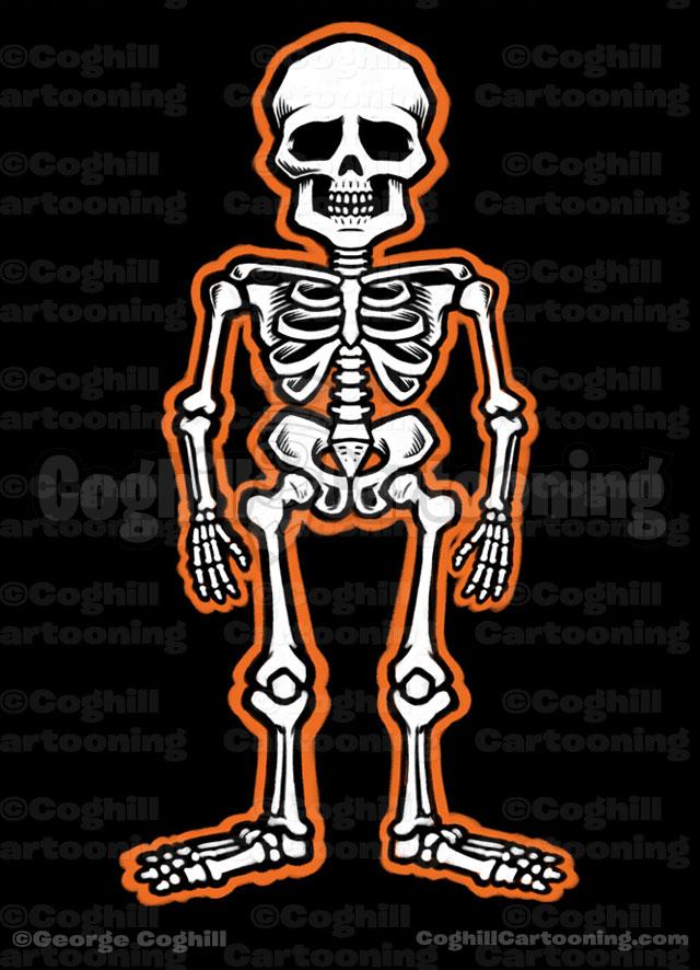 Skeleton Cartoon Illustration Coghill