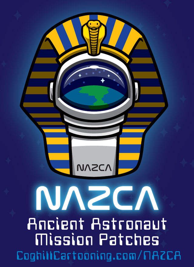 Nazca Pharaoh Ancient Astronaut Patch Promo